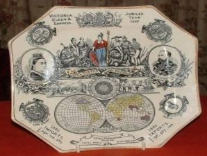 Create a Victorian plate illustrating it with the most important achievements of the age.