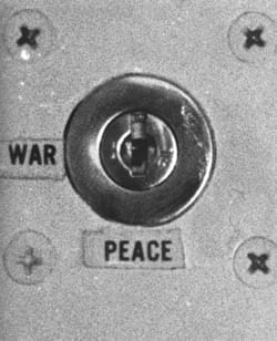 War and peace button