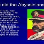 Key Stage 4 Smart Task: Scoop! What on earth was going on in Abyssinia in 1935?