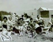 Seaside image from the 1950s.