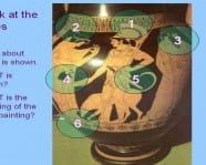 Sample of animated slide showing how to decipher an Ancient Athenian pot