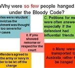 If the Bloody Code made so many offences punishable by death, why were so few criminals hanged?  SMART TASK
