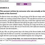 Why are these accounts of the Battle of the Somme, written by the same person, so different? SMART TASK