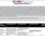 Outstanding Scheme of Work for teaching the Anglo Saxons