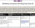 KS1 Medium term planner: The sinking of the Titanic Y2