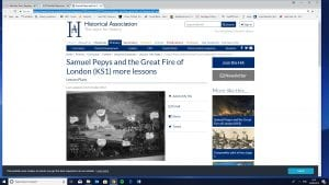 Samuel Pepys and the Great Fire lesson plans and resources from Historical Association