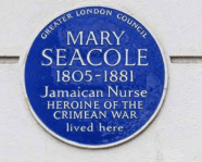 Mary Seacole blue plaque